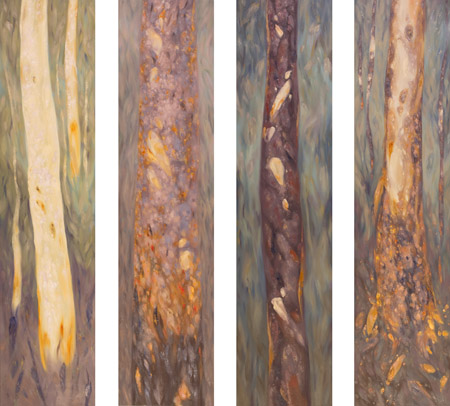 Seasonal forest polyptych