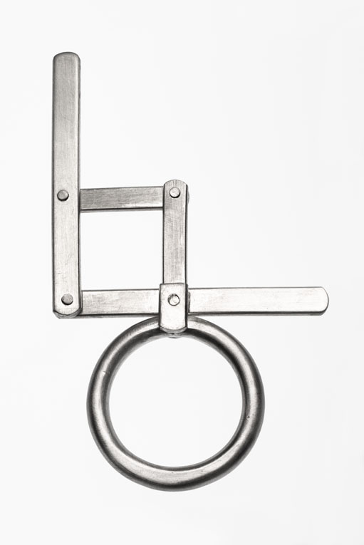 Folding Square ring - open