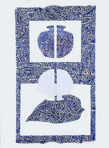 'Blue and White - Passage' Panel of INNER OUTER