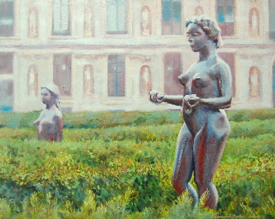 Bronze Ladies in the Tuileries