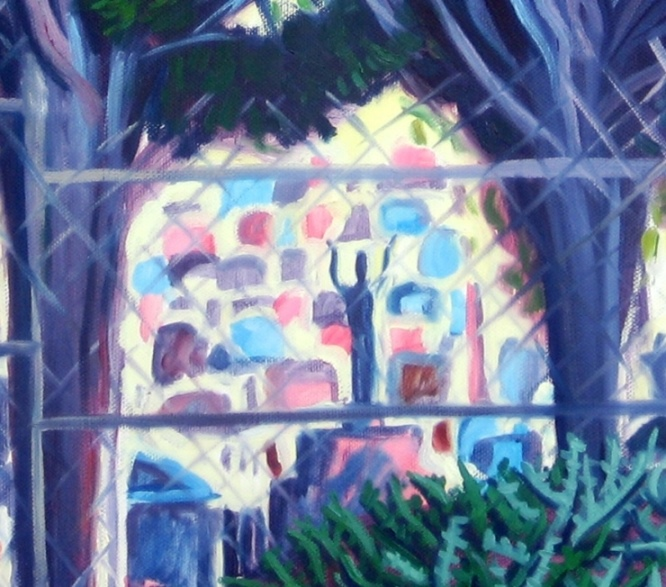 'Four Trees, Burwood Cemetery' (Detail)