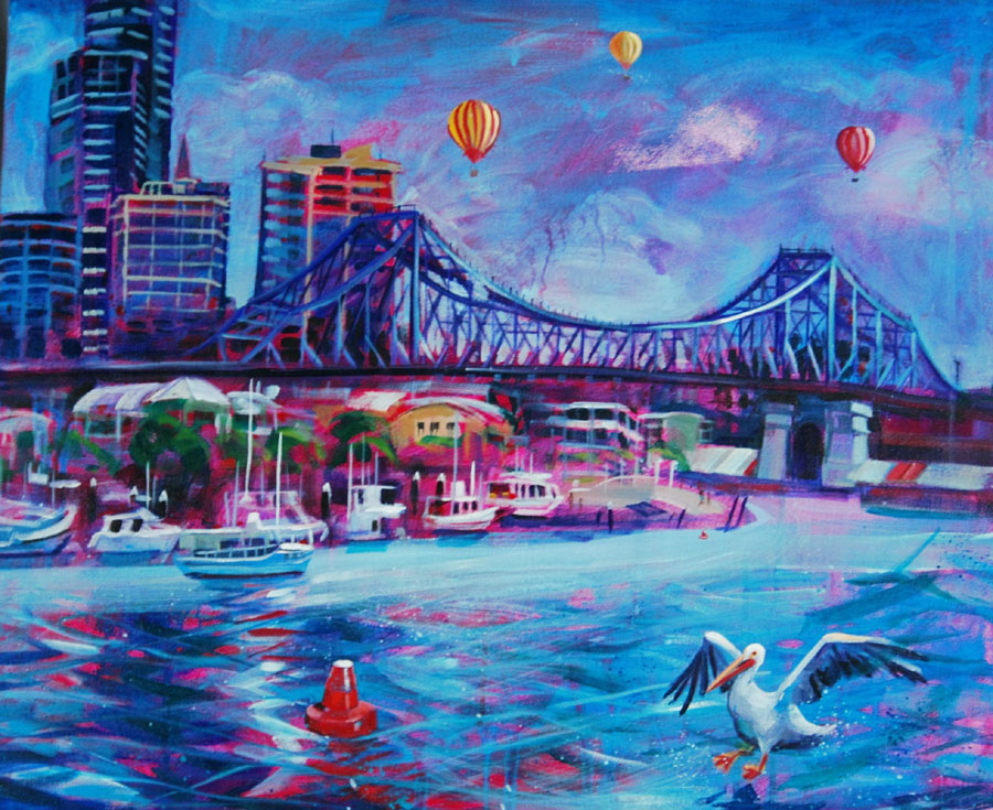 Story Bridge with balloons
