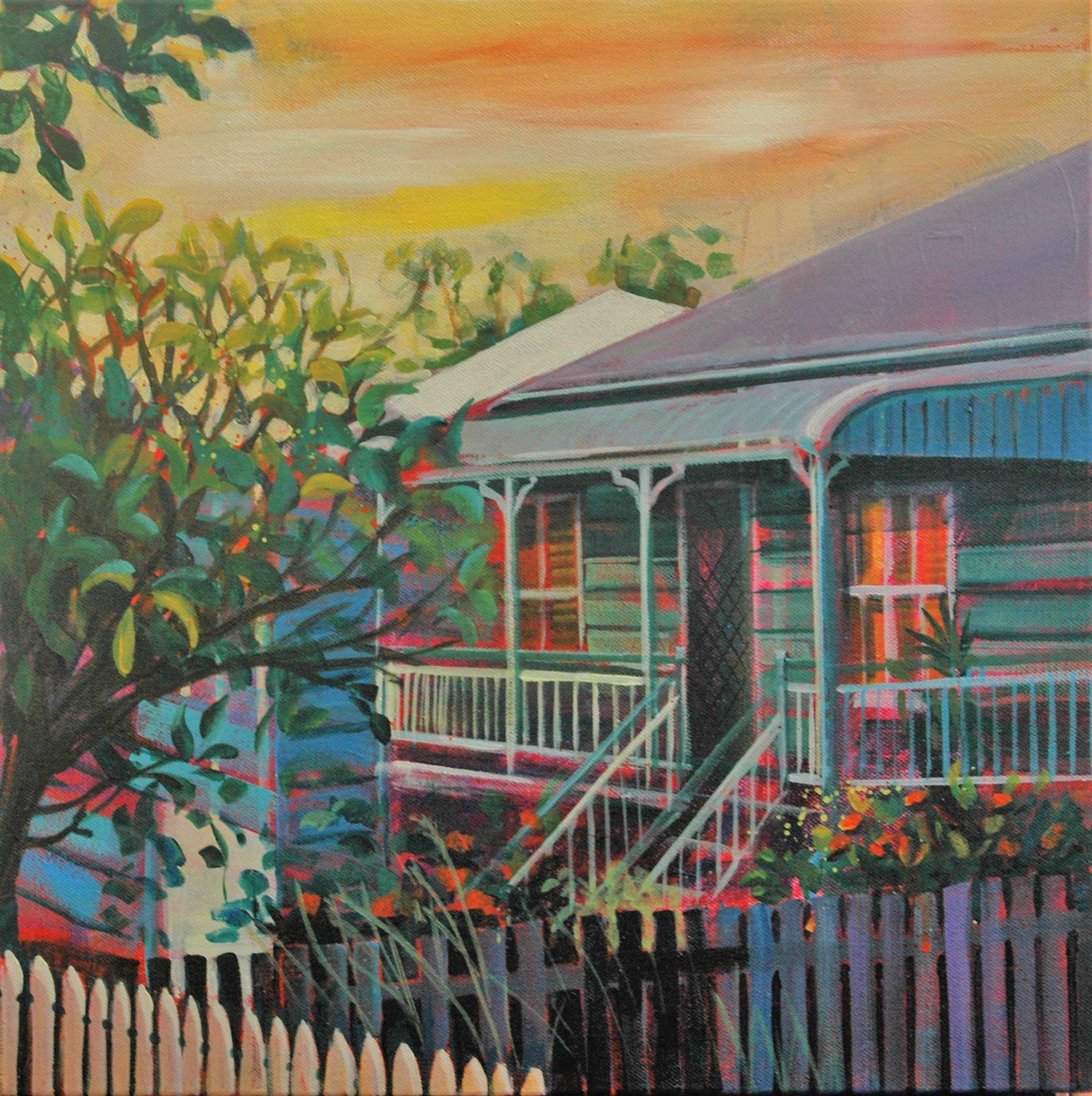 Evening light reflected - Worker's Cottage