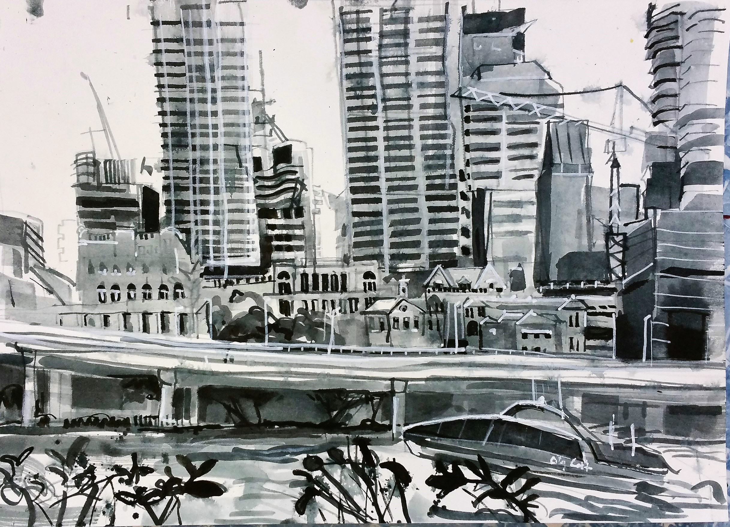 Brisbane skyline from Southbank