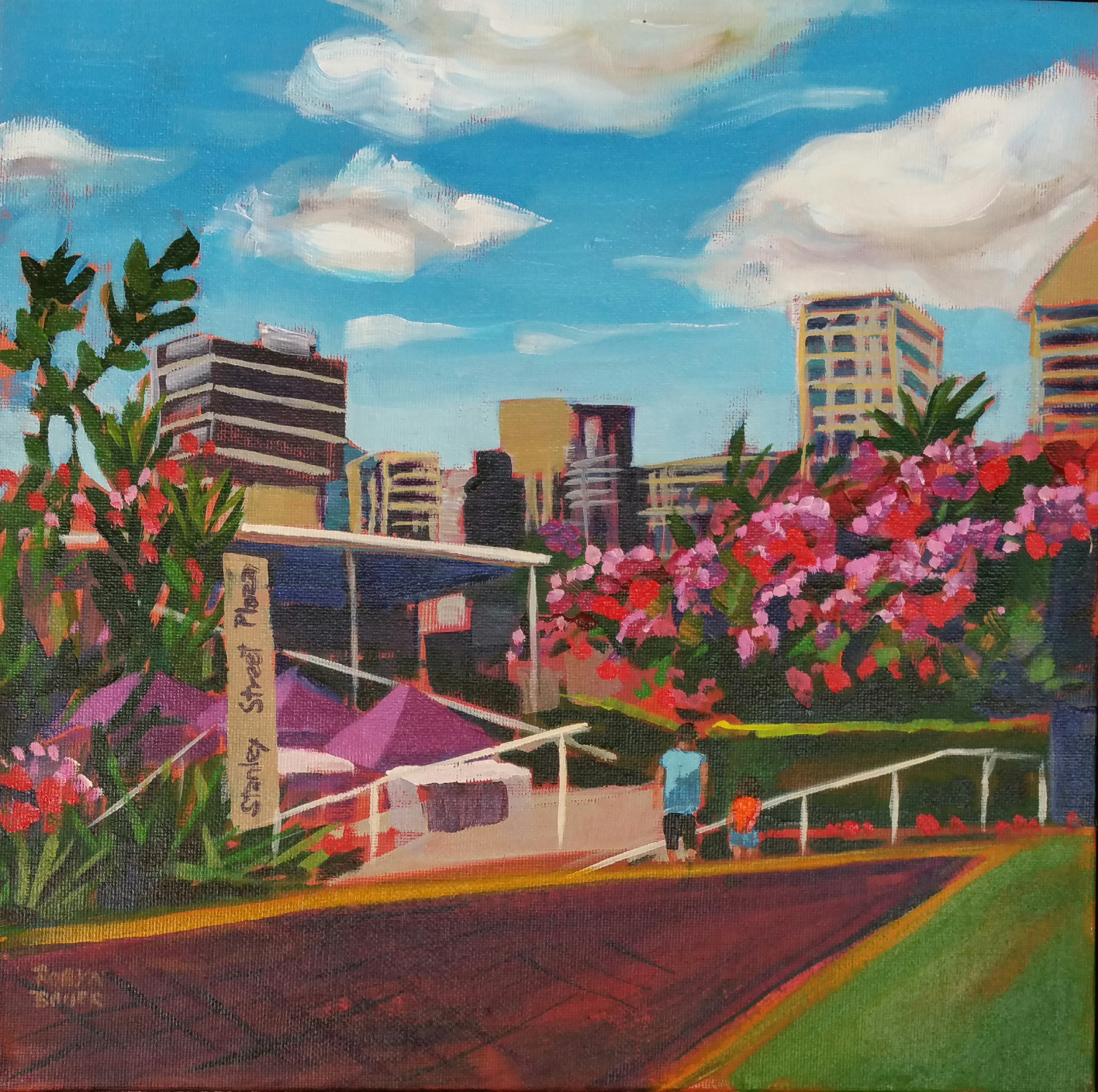 Bougainvillea and Poinciana at Southbank