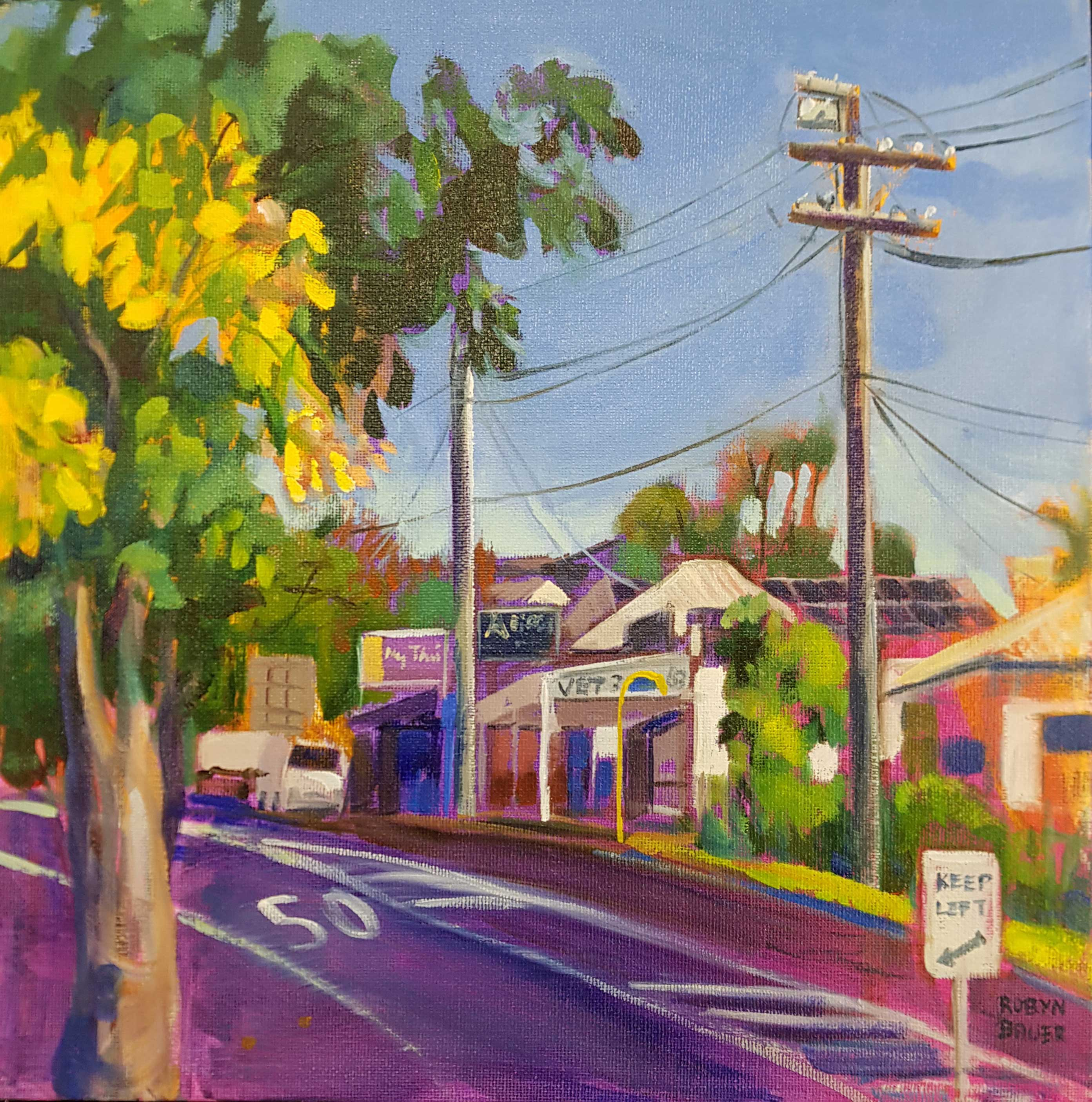 Yellow and mauve, - Haig Road Auchenflower