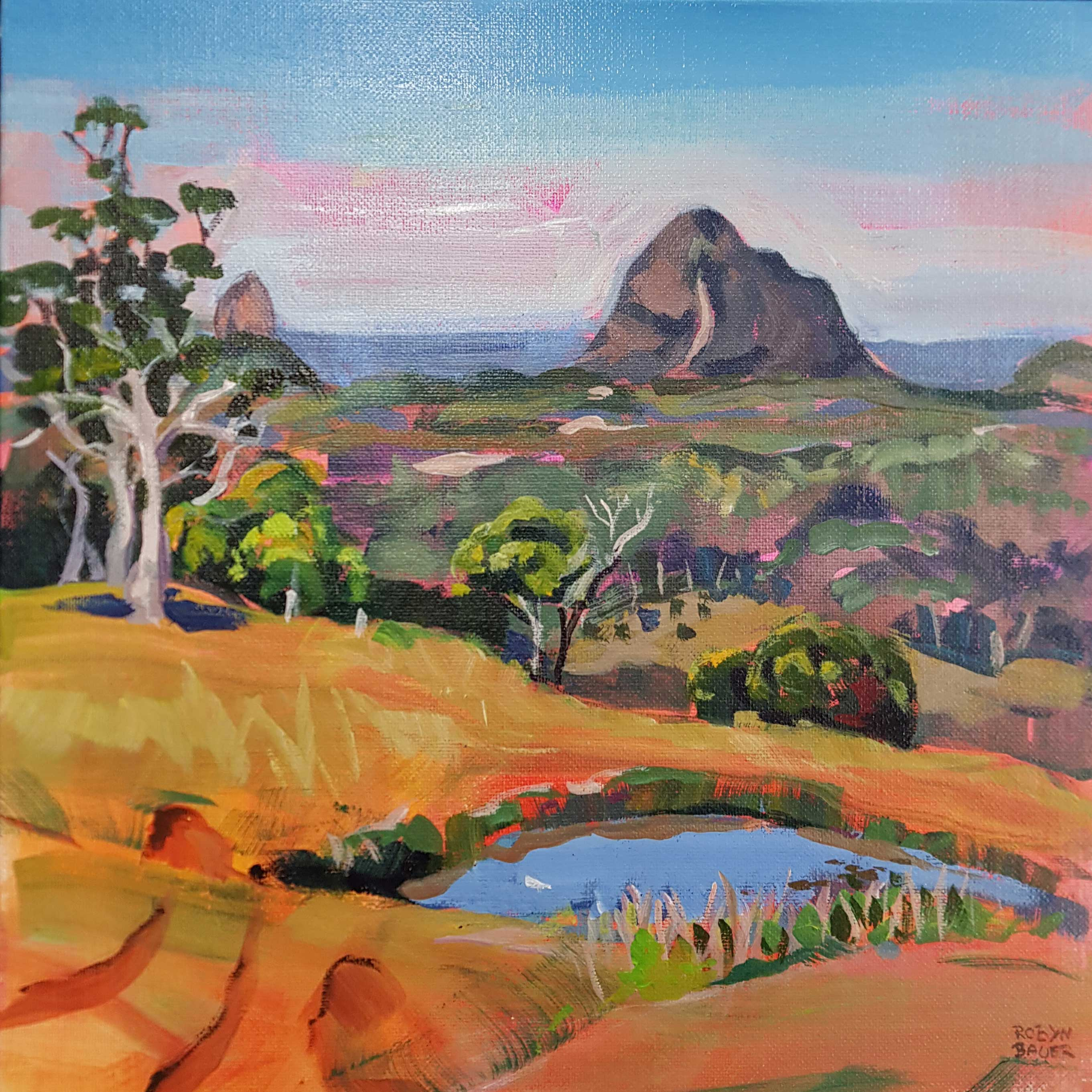 Blue pond, Tibrogargan from Maleny