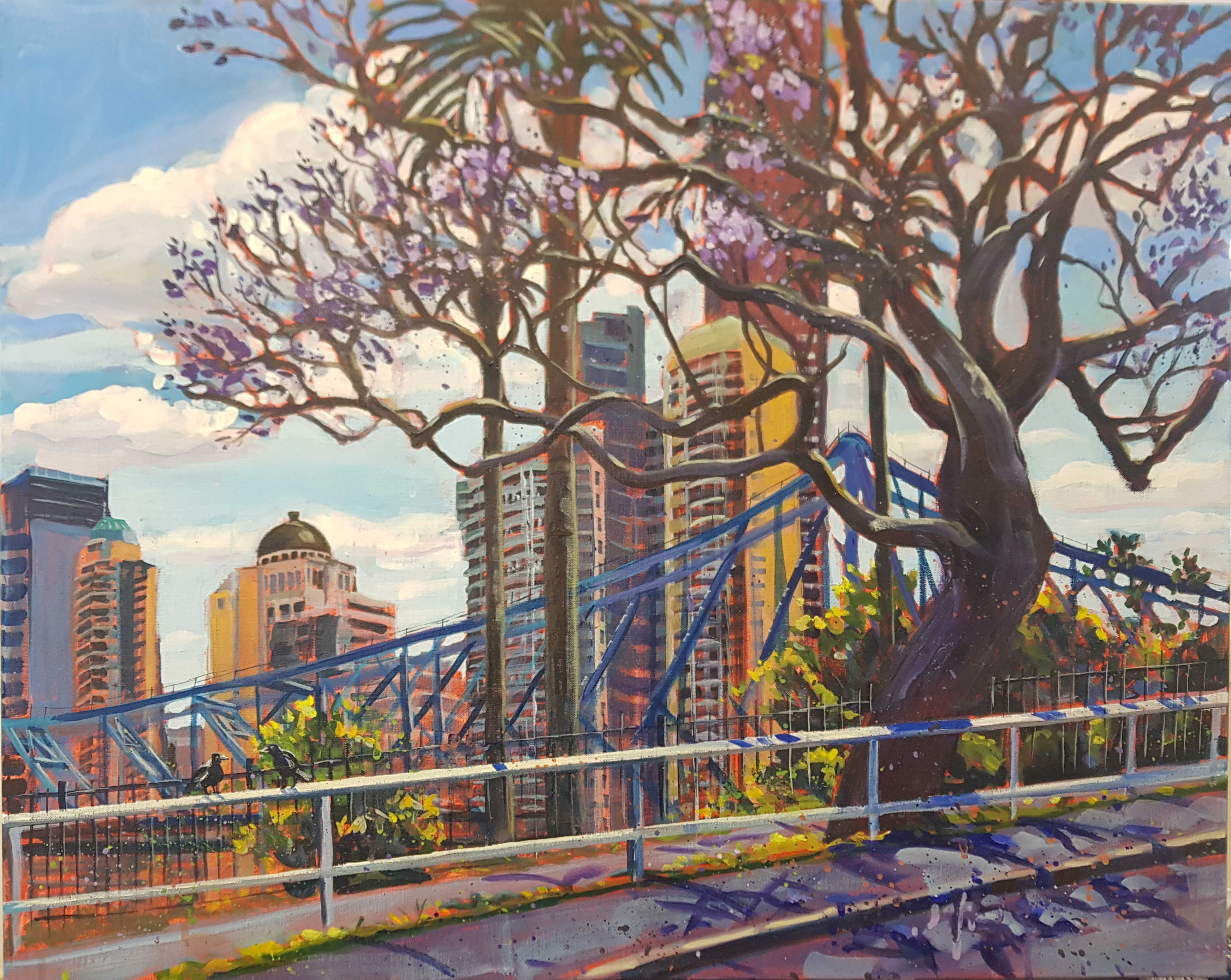 Jacaranda Story, Story Bridge from New Farm