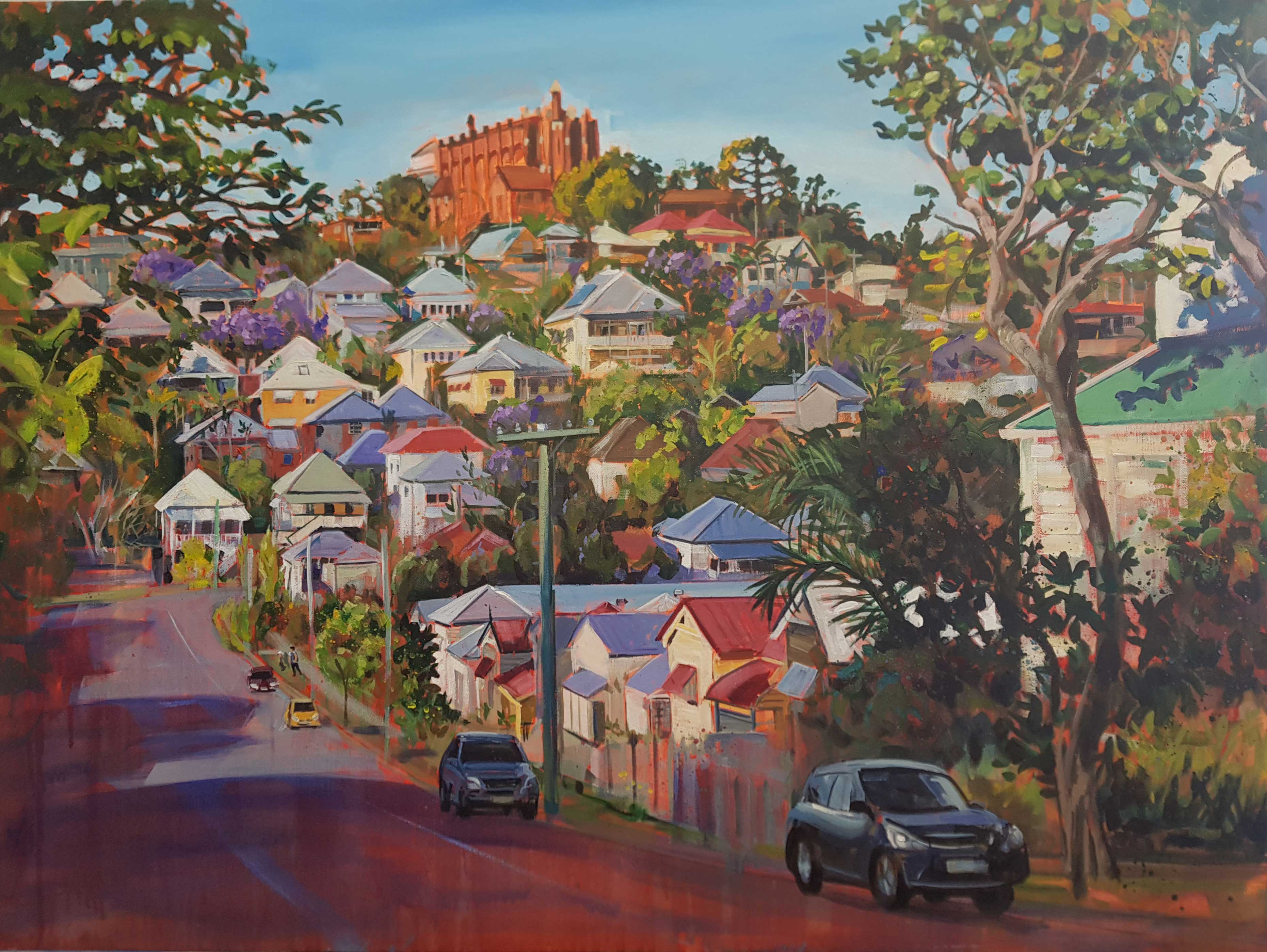 St Brigid's hill, Jacaranda season