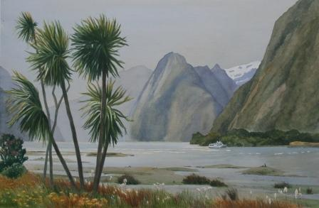 Windy Evening,  Milford Sound