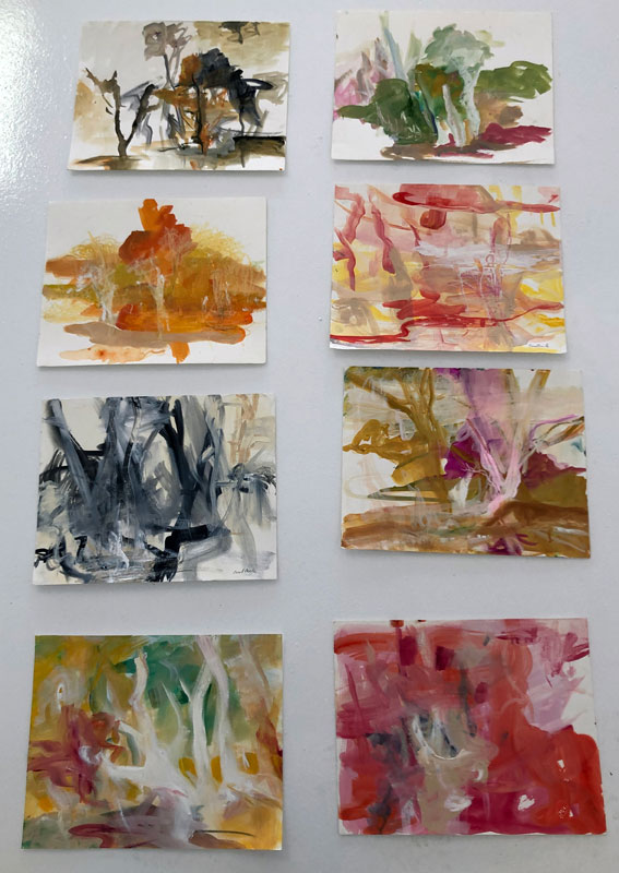 Plein Air Paintings on Paper