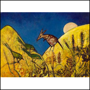Artist Joyce Blanche<br />Title And the Roo Jumped over the Moon<br />Year 2009<br />Medium Acrylice on Paper