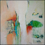 Artist 	Kym Barrett Title 	Recovery 1 Year 	2011 Medium 	mixed media Support 	matboard Height 	20cm Width 	20cm