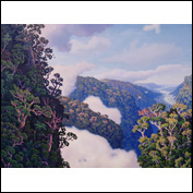 Artist 	Dave Groom Title 	A Paradise Somewhere Year 	2011 Medium 	Oil Support 	Canvas Height 	142cm Width 	187cm