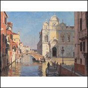 Artist  David Henderson Title  Ospedale Civico, Venice Medium  Oil on canvas Height  90 cm Width  120 cm