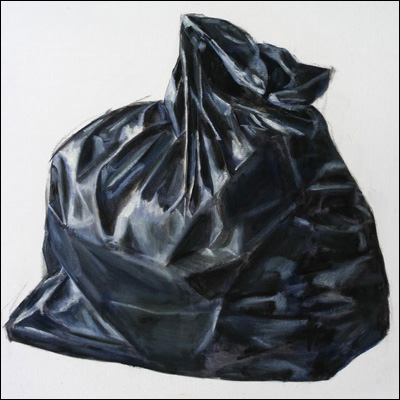 Artist  Nick Ashby Title  black bag #1 Year  2011 Medium  oil Support  linen